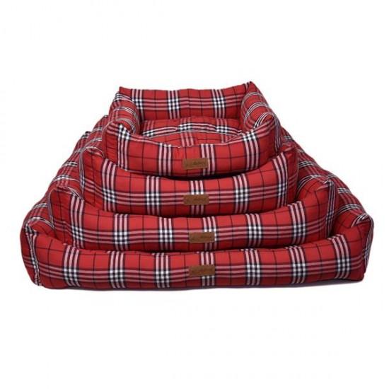 Dubex Danish Kedi Köpek Yatağı Kırmızı Kareli S