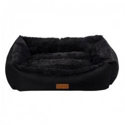 Dubex Jellybean Peluşlu Kedi Köpek Yatağı Siyah Antrasit XL