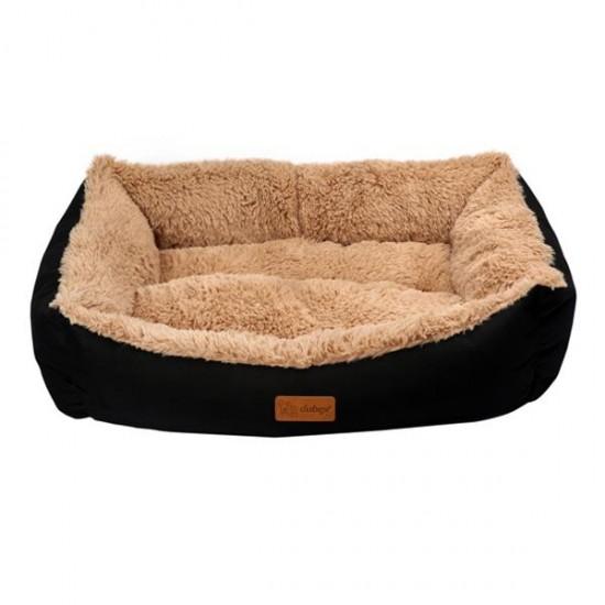 Dubex Jellybean Peluşlu Kedi Köpek Yatağı Siyah Camel L