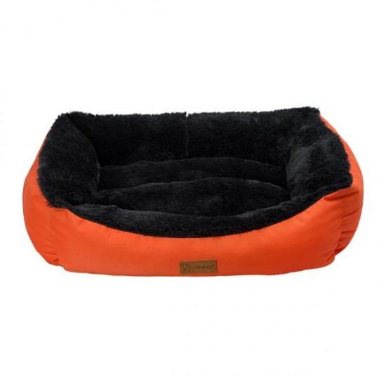 Dubex Jellybean Peluşlu Kedi Köpek Yatağı Turuncu Antrasit L