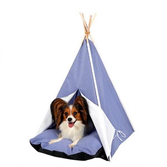 Dubex Kedi Köpek Çadırı Mavi