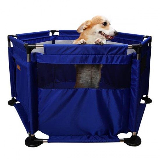 Dubex Pet Park Mavi Kedi ve Köpekler İçin Oyun Alanı 120x60x60Cm
