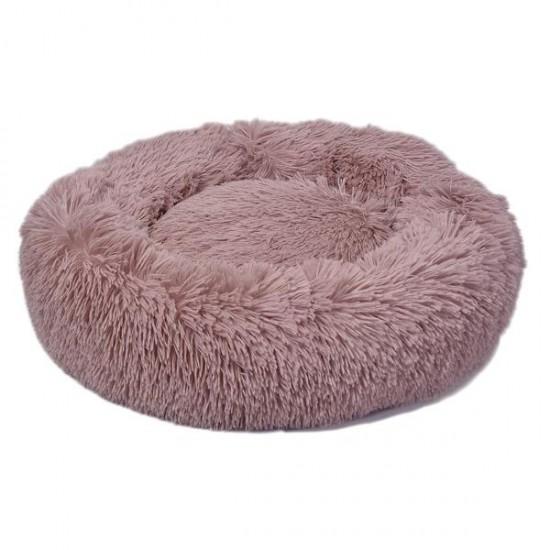 Dubex Ponchik Yuvarlak Kedi Köpek Yatağı Pembe M
