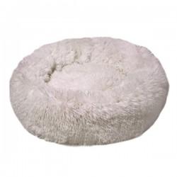 Dubex Ponchik Yuvarlak Kedi Köpek Yatağı Beyaz M