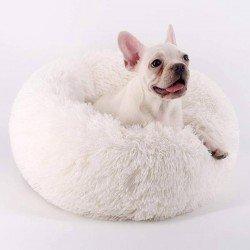Dubex Ponchik Yuvarlak Kedi Köpek Yatağı Kahverengi S