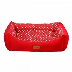 Dubex Tarte Kedi Köpek Yatağı Kırmızı M Noktalı