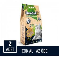 Eurocat Hızlı Topaklaşan Doğal Kedi Kumu 10 Lt 2 Adet