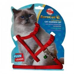 Eurocat Kedi Göğüs Tasması Kırmızı