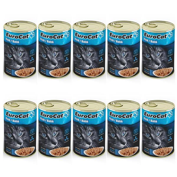 Eurocat Kedi Konservesi Balıklı 415gr x 10 Adet