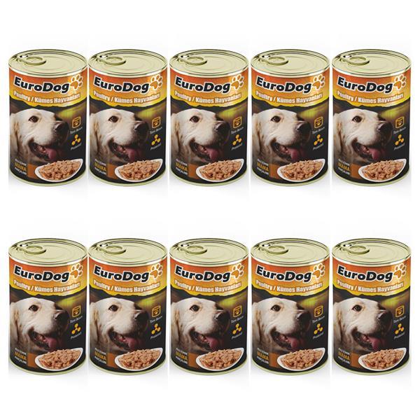 Eurodog Köpek Konservesi Kümes Hayvanlı 415gr x 10 Adet