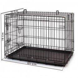 Eurogold Kedi Köpek Kafesi Siyah 107x71x78cm