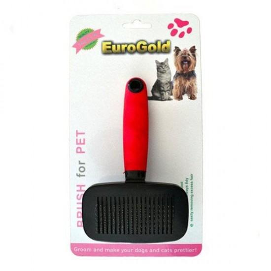 Eurogold Kendini Temizleyen Kedi Köpek Fırçası Medium