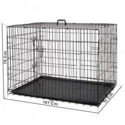 Eurostar Katlanabilir Tepsili Kedi Köpek Kafesi 106.7x71x76 Cm
