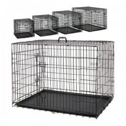 Eurostar Katlanabilir Tepsili Kedi Köpek Kafesi 120x77x90 Cm