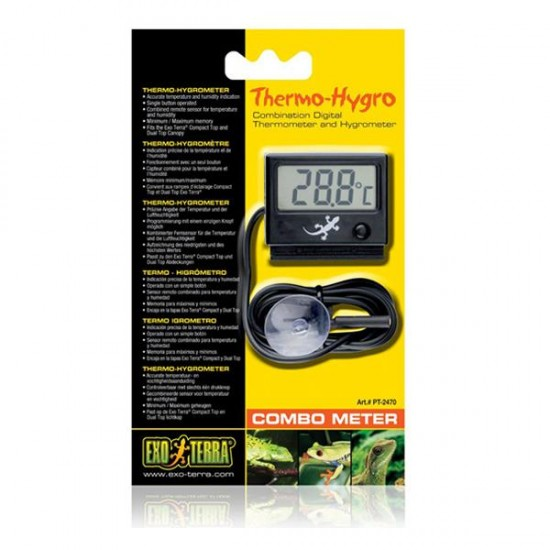 Exo Terra Thermo-Hygro Combometer