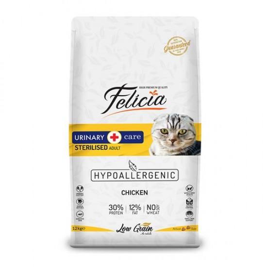 Felicia Kısırlaştırılmış Tavuklu Sterilised Kedi Maması 12 Kg