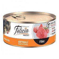 Felicia Fileto Biftekli Tahılsız Kısırlaştırılmış Kedi Konservesi 85gr