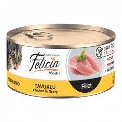 Felicia Fileto Tavuklu Tahılsız Kısırlaştırılmış Kedi Konservesi 85gr