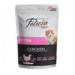 Felicia Kitten Tahılsız Tavuklu Yaş Yavru Kedi Maması 85gr x 6 Adet