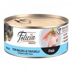 Felicia Kıyılmış Ton Balıklı ve Tavuklu Yetişkin Kedi Konservesi 85gr