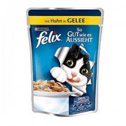 Felix Adult Pouch Tavuk Etli Yaş Kedi Maması 100gr