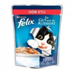 Felix Adult Pouch Sığır Etli Yaş Kedi Maması 100gr