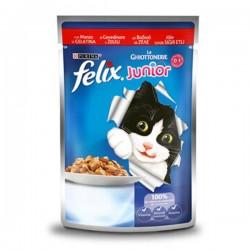 Felix Junior Pouch Sığır Etli Yaş Kedi Maması 100gr