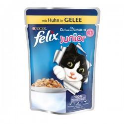 Felix Junior Pouch Tavuklu Yaş Kedi Maması 100gr