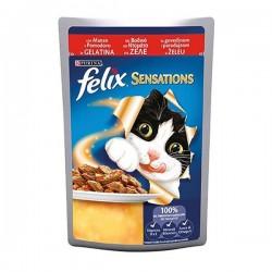 Felix Sensations Sığır Etli ve Domatesli Yaş Kedi Maması 100gr