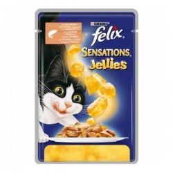Felix Sensations Somonlu ve Karidesli Yaş Kedi Maması 100gr