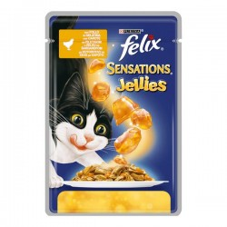 Felix Sensations Tavuklu ve Havuçlu Yaş Kedi Maması 100gr