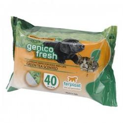Ferplast Genico Fresh Kedi Köpek Temizleme Mendili Yeşil Çay Kokulu