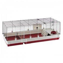 Ferplast Krolik Tavşan Kafesi 140 Bordo Beyaz
