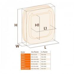 Ferplast Swing 5 Tünel Beyaz Kedi Kapısı13,5x13.7