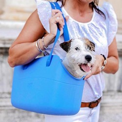 Ferplast With Me Bag Medium Kedi Taşıma Çantası Mavi