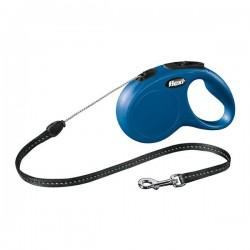Flexi New Classic 5M İp Tipi Otomatik Tasma S Mavi