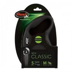 Flexi New Classic 5M Şerit Medium Siyah