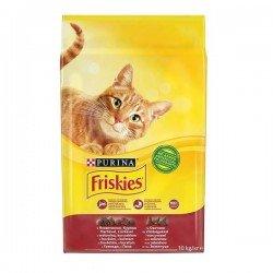 Friskies Etli Tavuklu ve Sebzeli Yetişkin Kuru Kedi Maması 10Kg