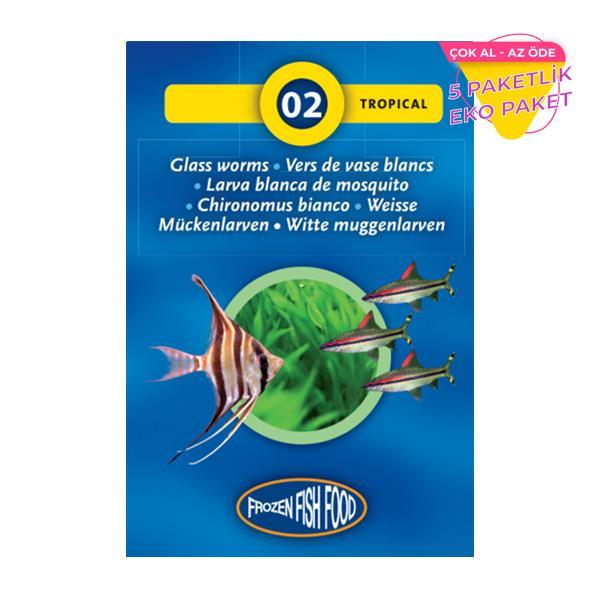 Frozen Beyaz Cam Kurdu Dondurulmuş Yem 5 li Paket Balık