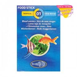 Frozen Bloodworms Food Stick Kan Kurdu Dondurulmuş STICK Yem 5 li Paket