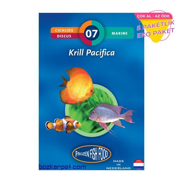 Frozen Krill Pacifica Dondurulmuş Yem 5 li Paket Balık