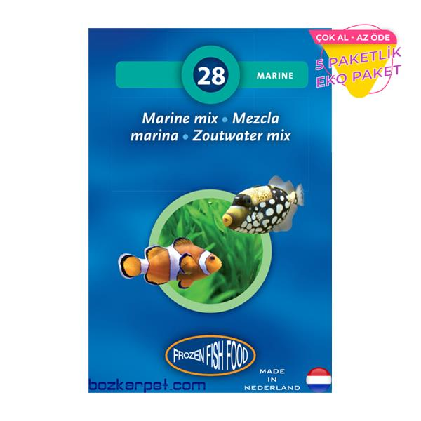 Frozen Marine Mix Dondurulmuş Yem 5 li Paket Balık