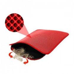Funny Cat Elekli Kedi Tuvalet Önü Paspası Kırmızı 60x45Cm