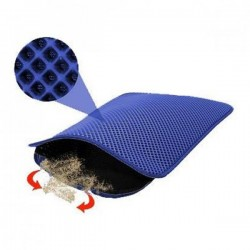 Funny Cat Elekli Kedi Tuvalet Önü Paspası Mavi 60x45Cm