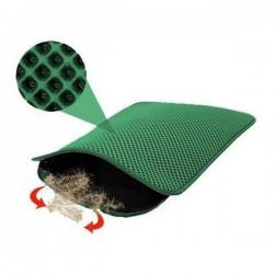 Funny Cat Elekli Kedi Tuvalet Önü Paspası Yeşil 60x45Cm