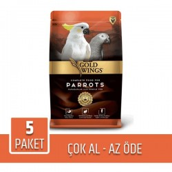 Gold Wings Premium Papağan Yemi 750gr x 5 Paket