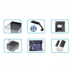 Haqos Cube Box 20 Ledli Sumplu Nano Akvaryum 20x23x22cm