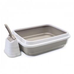 Imac Duo Açık Kedi Tuvaleti Kum Küreği Hediyeli Beyaz Kahverengi