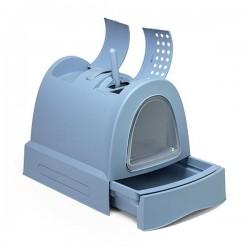 Imac Zuma Çekmeceli Kapalı Kedi Tuvaleti Mavi