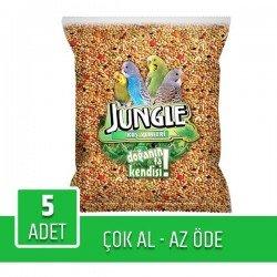 Jungle Poşet Muhabbet Yemi 1Kg x 5 Adet